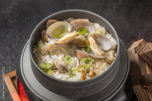 Vászonkép アサリの釜めし Japanese clams cooked rice with clams