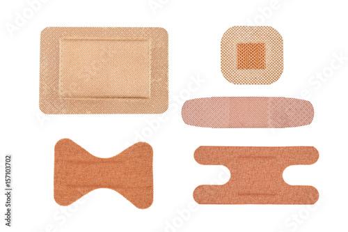 Tablou Canvas Assortment of adhesive bandages