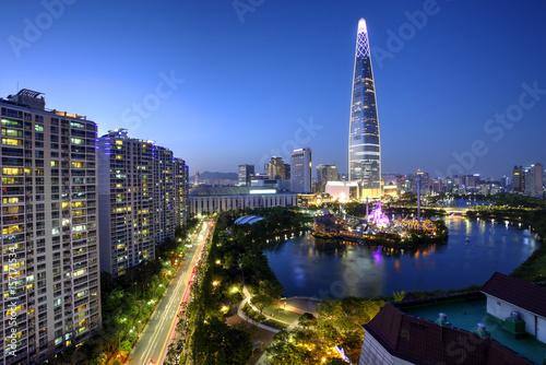 Fototapeta premium Miasto Seul, Korea