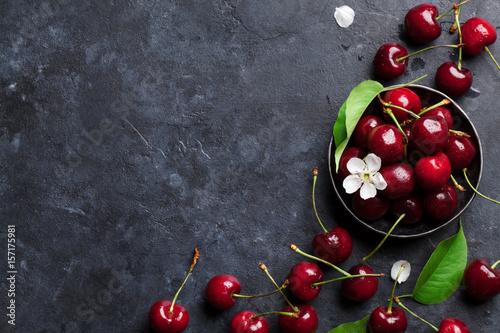 Carta da parati Fresh garden cherry