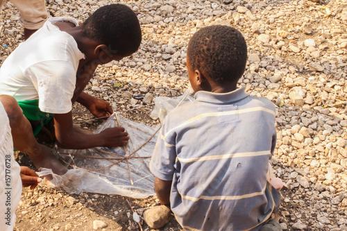 Fotografie, Tablou Playtime in Haiti