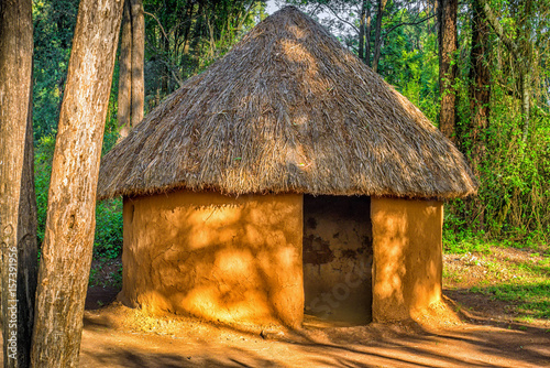 Fotografie, Tablou Traditional, tribal hut of Kenyan people, Nairobi, Kenya