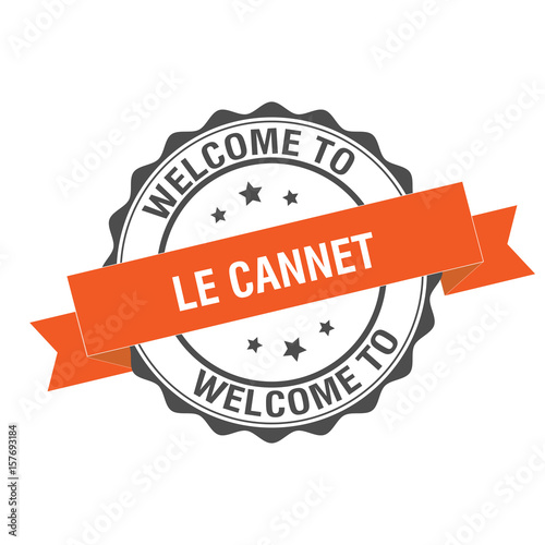 Photo Welcome to Le Cannet stamp illustration