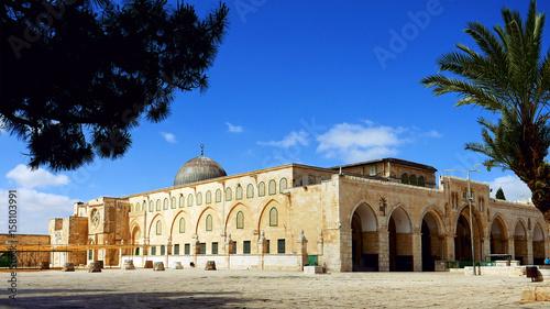 Obraz na płótnie Al-Aqsa Mosque in Jerusalem on the top of the Temple Mount
