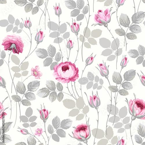 rysowane pastelowe róże
