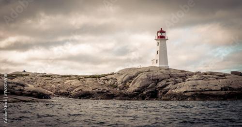 lighthouse in Peggy's Cove, Nova Scotia Fototapeta