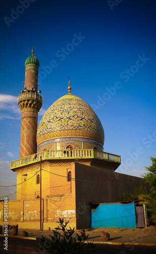 Exterior view to AlShawy Mosque at Baghdad, Iraq