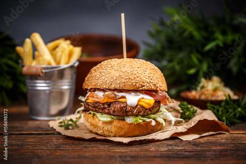 Burger with cheese