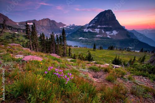 Fototapeta Hidden Lake Trail, Glacier National Park, Montana, USA