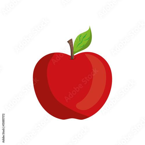 Canvastavla apple fruit icon over white background vector illustration