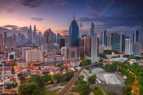 Fototapeta premium Kuala Lumpur. Cityscape image of Kuala Lumpur, Malaysia during sunrise.