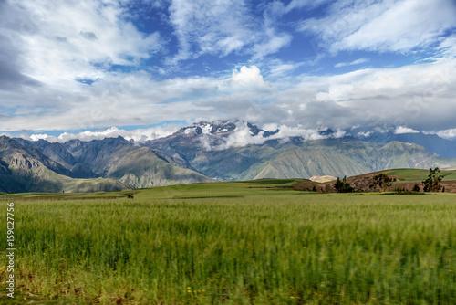 Canvas Print Sacred Valley. Cusco Region, Urubamba Province, Peru