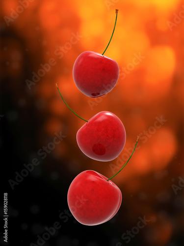 Spadające czereśnie
