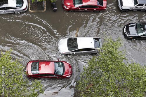 Fotografia, Obraz Street Flooding in Miami