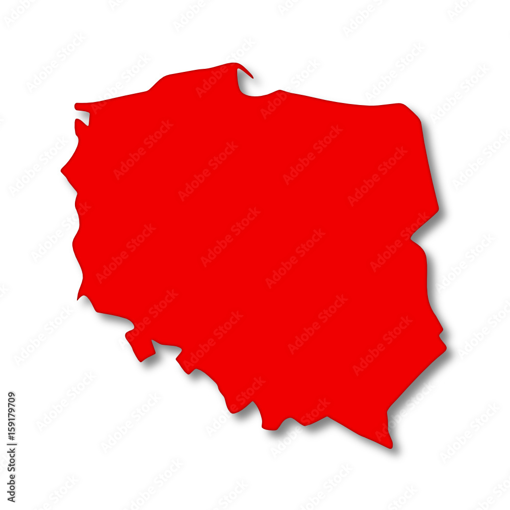 Mapa Polski czerwona <span>plik: #159179709 | autor: robert6666</span>