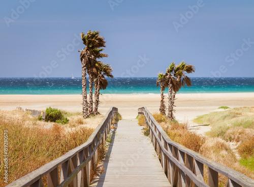 beach of Tarifa, Andalusia, Spain, Fototapeta