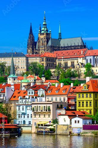 Fototapeta Mala Strana (Lesser Town of Prague) and Prague Castle