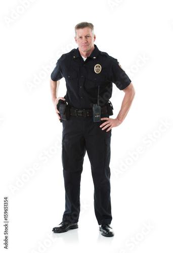Carta da parati Police: Officer In Uniform Looking At Camera