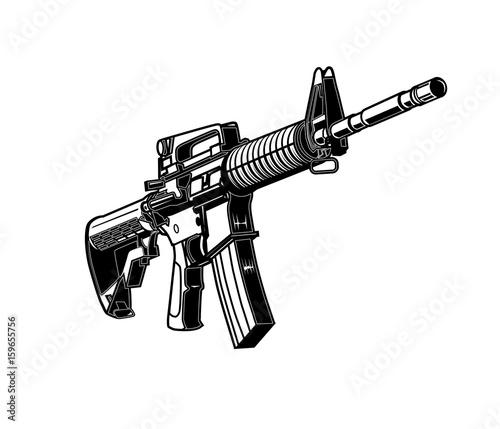 Fotografie, Obraz Ar-15, Rifle, Assault Rifle, M-16, Armalite, Machine Gun, Gun, Rifle, Weapon