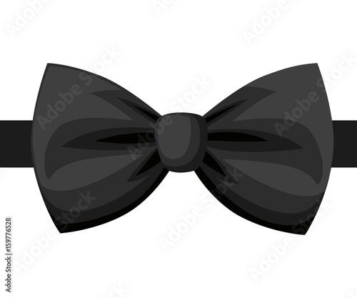 Fotografia Vector Black Bow Tie isolated on white