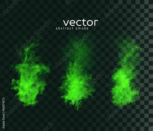 Photo Vector illustration of smoky shapes.