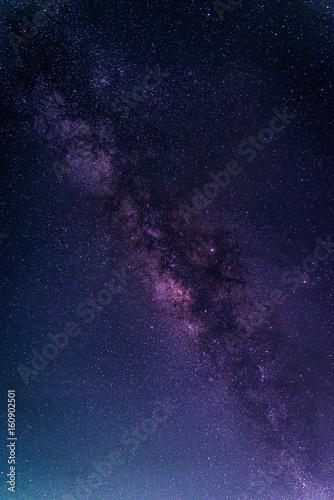 Αφίσα Landscape with Milky way galaxy
