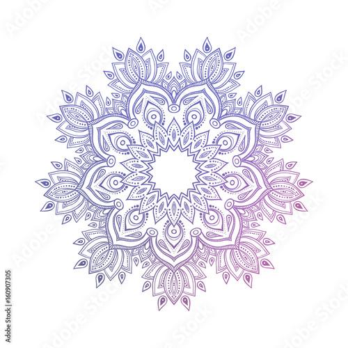 Fototapeta Hand drawn abstract mandala design