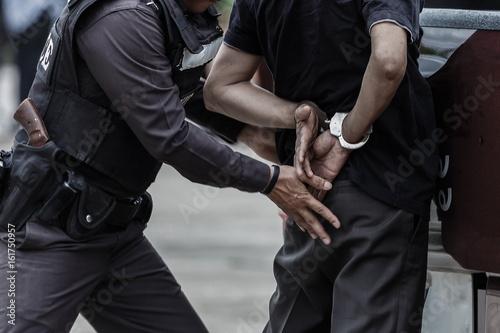 Slika na platnu Police arrested,Police,Gun.