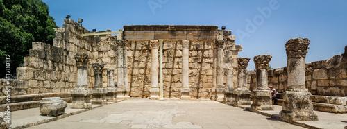 Fotografia Archaeological site Capernaum, Sea of Galilee in Israel