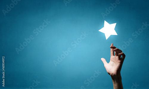 Obraz na plátně Reach and touch the star