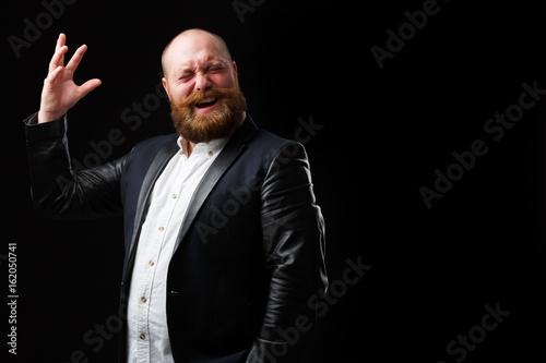 Artistic man with ginger beard Fototapeta