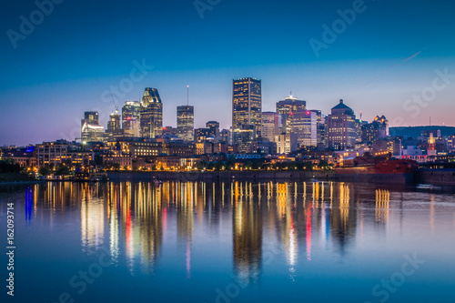 Montreal Downtown View From Accross St Lawrence River