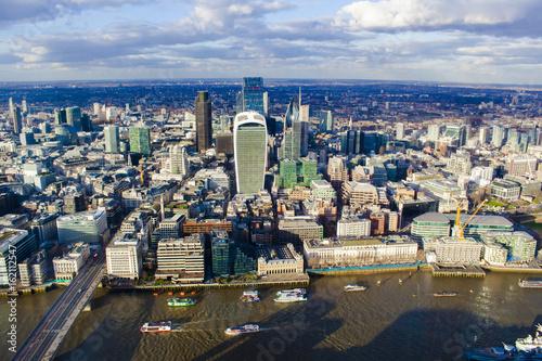 Naklejka na szafę Centrum Londynu, widok z lotu ptaka