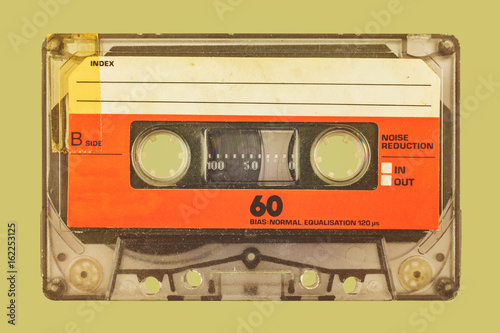Photographie Retro styled image of a compact cassette