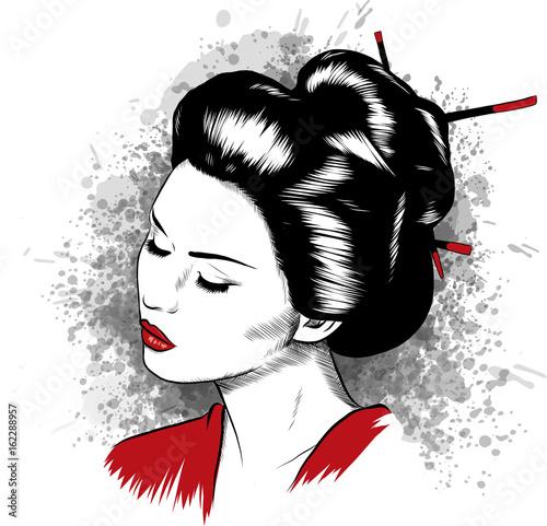 Fotografie, Obraz geisha