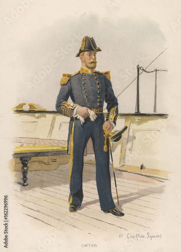 Canvas Print Royal Naval Captain. Date: circa 1890