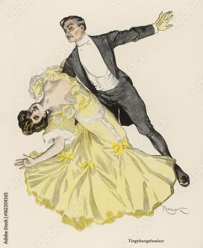 Wallpaper Mural Tingel-Tangel Waltz. Date: 1908