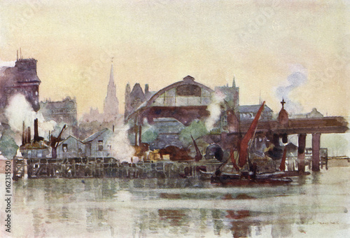 Obraz na plátně Charing Cross Railway Station (Marshall). Date: 1905