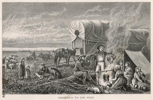 Canvastavla Emigrants Halt. Date: circa 1870