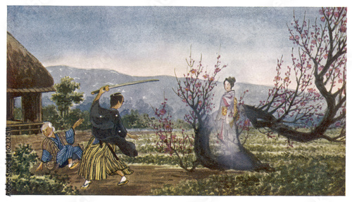 Canvas-taulu Spirit of Plum Tree
