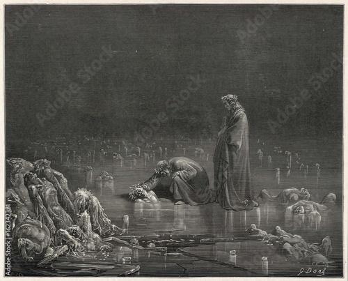 Photo Dante - Virgil on Ice. Date: 1307-21