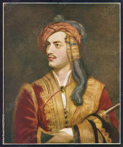 Stampa su Tela Lord Byron - Greek Costume. Date: 1788-1824