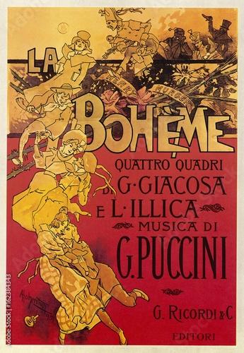 Obraz na plátně La Boheme opera score by Giacomo Puccini. Date: 1896