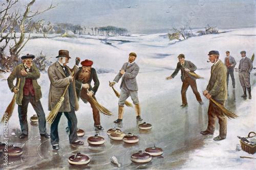 Valokuva Scottish Curling 1912. Date: 1912