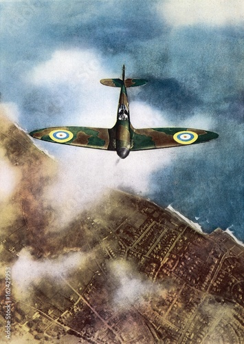 Tableau sur Toile Spitfire. Date: 1940