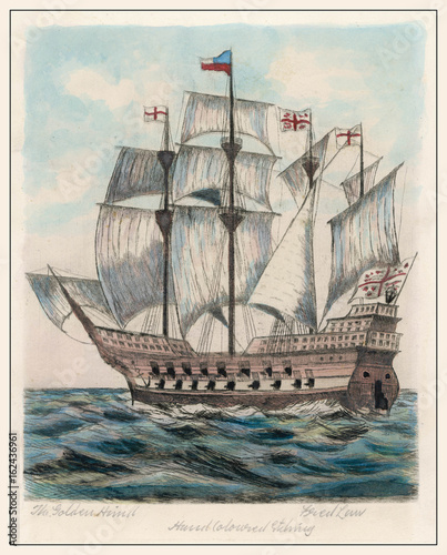 Tablou Canvas Golden Hind - Fred Law. Date: 1577