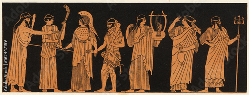 Canvas Print Athena Weds Herakles