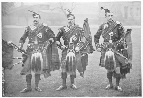 Photo Music - Bagpipes. Date: 1895