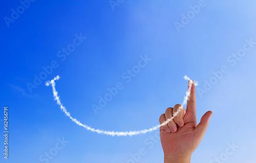 Fotografiet Happiness Concept Background Positive Attitude