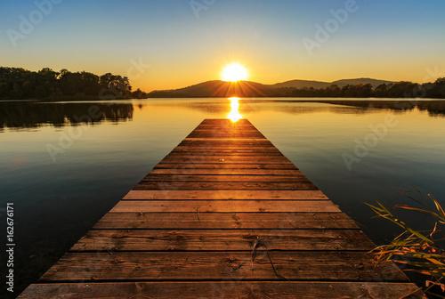 Fotografie, Tablou Sonnenuntergang am See